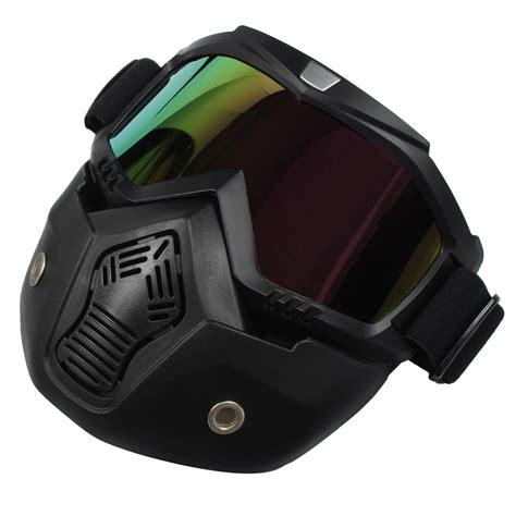 Detachable Modular Helmet Face Mask Shield Goggles