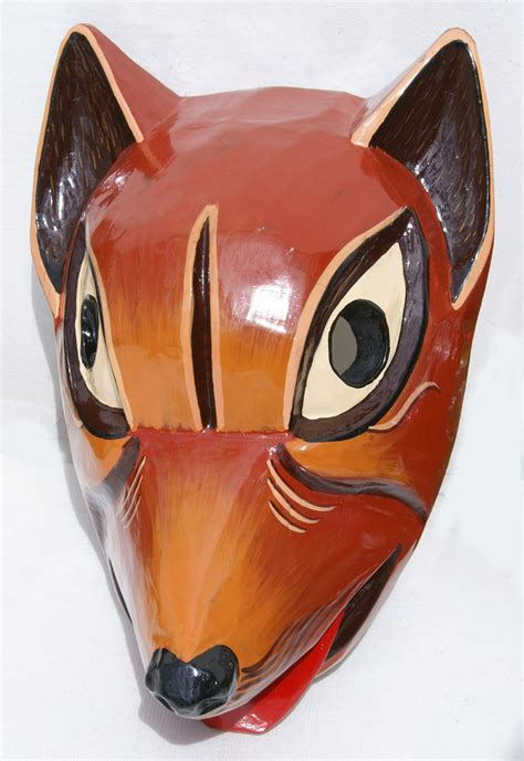 Handmade Animal Masks - wooden handmade mask tribal animal masks of ecuador