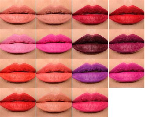 mac lip color mac retro matte liquid lipstick colour collection january