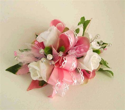 Prom Corsage by Sale Priced Pink White Prom Corsage With Sweetheart Roses