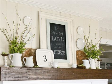 mantel decorating ideas decorate your mantel year round hgtv