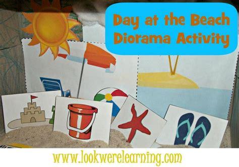 printable diorama beach shoebox diorama craft homeschool we and summer