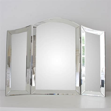 Glass Vanity Table With Mirror All Glass Dressing Table Mirror By Decorative Mirrors Notonthehighstreet