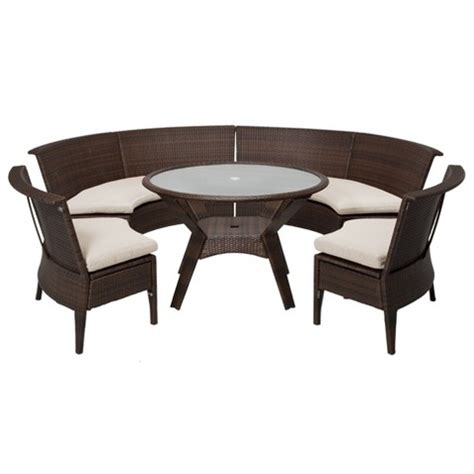 Threshold Patio Chairs Nureesa Threshold Rolston 5 Wicker Sectional Patio Dining Furniture Set Sale View