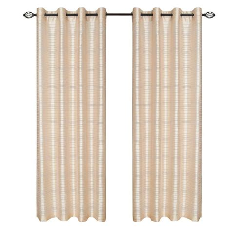 grommet curtains 63 length lavish home beige maggie grommet curtain panel 108 in