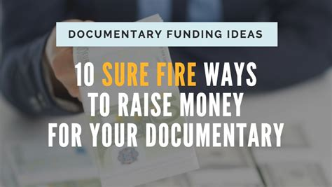 10 Easy Ways To Raise Money For Your School by Documentary Funding Ideas 12 Sure Ways To Get