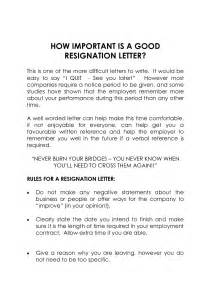 how to write an official letter of resignation
