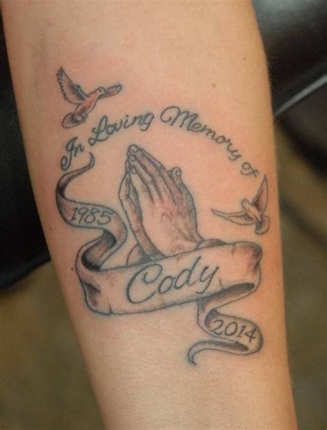tattoos for lost loved ones praying for a lost loved one tattoos by