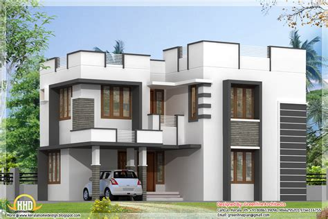 simple contemporary home design kerala home design transcendthemodusoperandi simple modern home design with