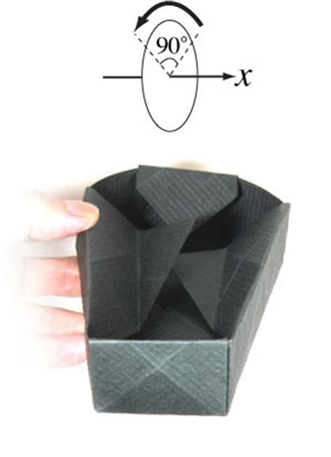 Origami Coffin - how to make an origami coffin for page 16