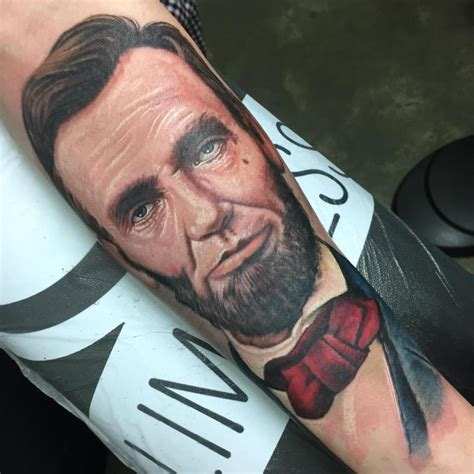 lincoln tattoo abraham lincoln by stevie monie tattoos