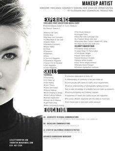 makeup artist cv examples nice resume format for makeup artist