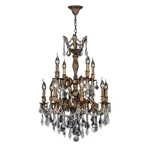 Bronze Chandelier Lighting Worldwide Lighting Versailles 12 Light Antique Bronze And Clear Chandelier W83346b24