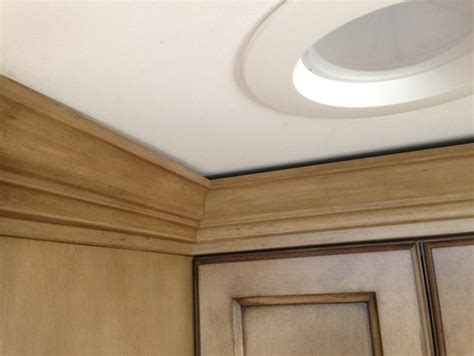 Fine Kitchen Cabinets by How To Fix Gap Between Ceiling And Kitchen Crown Molding