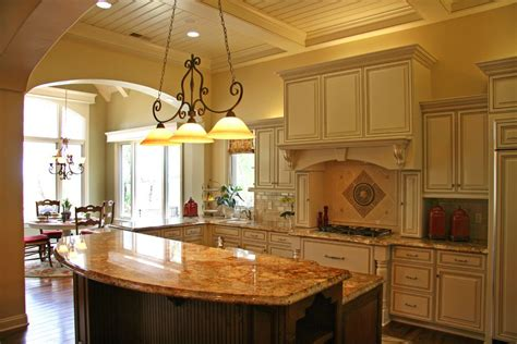 los angeles kitchen island with raised bar traditional
