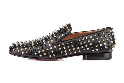 christian louboutin spiked loafers christian louboutin rollerboy spiked leather loafers