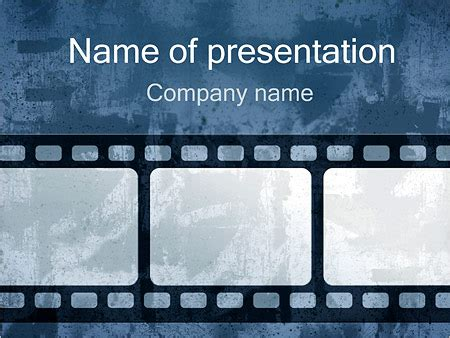 retro film strip powerpoint template backgrounds id