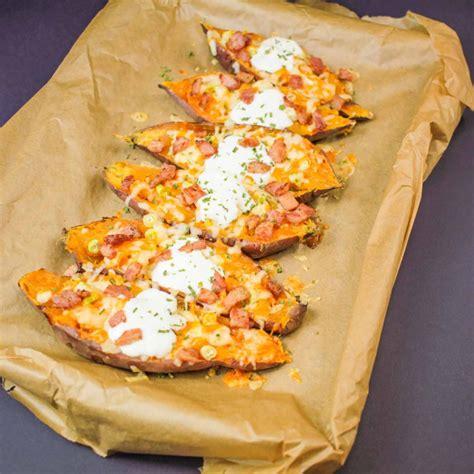 sweet potato boats stuffed sweet potato boats recipe globe scoffers