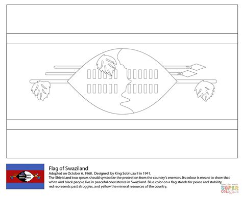 free coloring pages of flag of ghana flag of swaziland coloring page free printable coloring