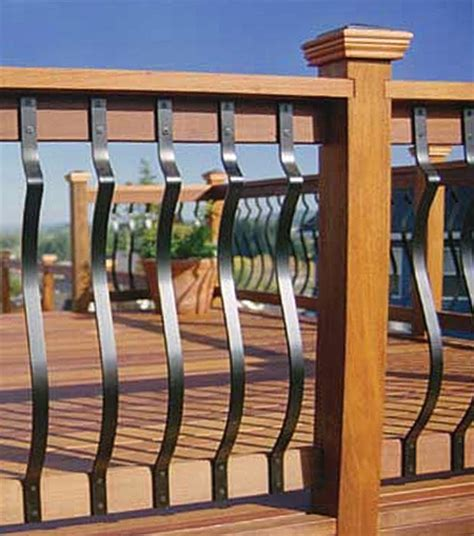 Metal Deck Spindles 32 3 16 Quot Baroque Deck Baluster Black