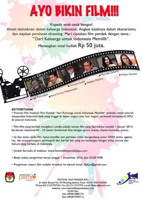 lomba film indonesia 2016 festival film pendek