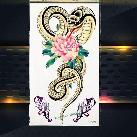 fake tattoo app high quality snake print temporary armband