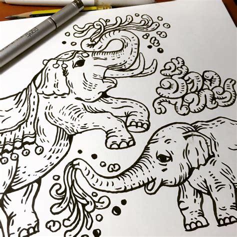 thai design thai elephant family pattern design 171 nokhookdesign นกฮ กด ไซน graphic design and art studio