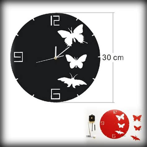 Promo Diy Acrylic Wall Clock 30 50cm Diameter Jam Din Diskon popular and black wall clocks buy cheap and black wall clocks lots from china and
