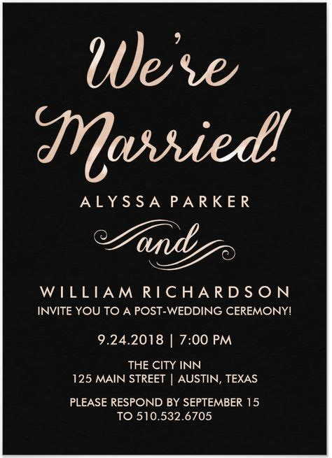 invitation wording for after destination wedding 21 beautiful at home wedding reception invitations