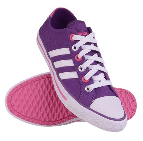 Adidas Neo Import adidas neo label canvas vl 3 stripes trainers lifestyle shoes purple pink white ebay