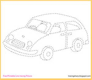 Trace Image Online Free Tracing Line Printable Car Tracing Picture