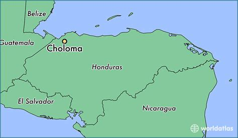 where is honduras located on the world map where is choloma honduras where is choloma honduras