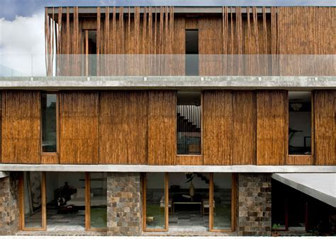 Interior Country Home Designs by Fabulous Home In The Philippines Clad With Bamboo Poles By