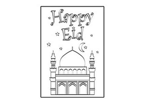 Eid Card Template by Eid Al Adha Islam Coloring Pages Education