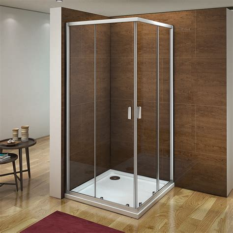 Corner Entry Shower Doors Aica Walk In Corner Entry Shower Enclosure Door Glass Cubicle 700 760 800 900 Ebay