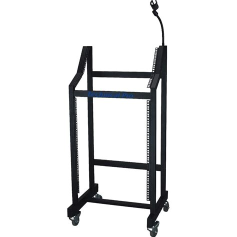 Rolling Equipment Rack by Technical Pro Rms 16u Rolling Mixer Equipment Rack Rms 16u B H