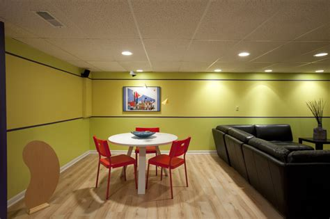 colorful modern basement contemporary family room orange county by katharyn hansche