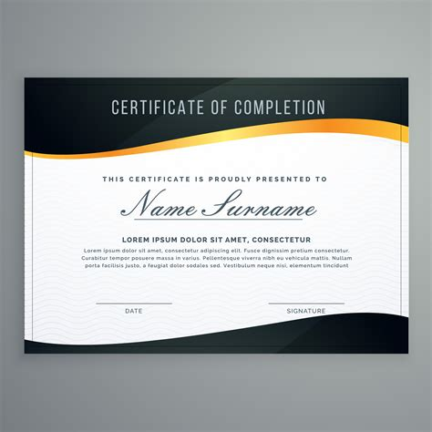 instructional design certificate uk certificate design in muxury modern style vector