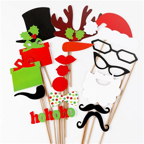 christmas mask theme diy mask photo booth props mustache on a stick wedding favor ebay