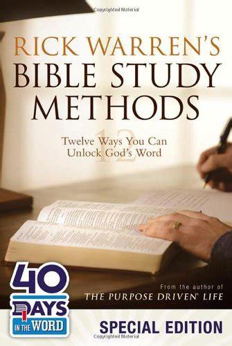 libro rick warren s bible study methods twelve ways you can unlock god s word di rick warren