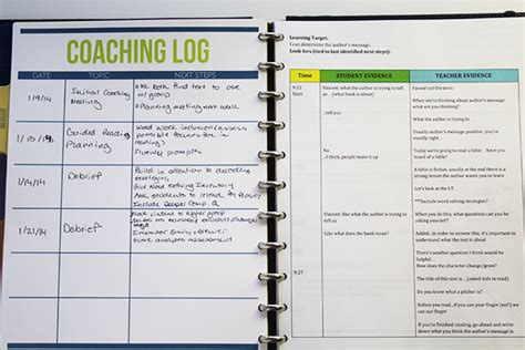 side by side coaching template updated coaching notebook ms houser