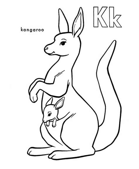 coloring book kangaroo k is for kangaroo coloring page www imgkid the