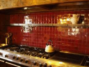 Red Backsplash Kitchen by Colorful Kitchen Backsplash Pictures Decozilla