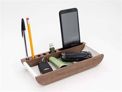 Handmade Pen Stand Designs - the handmade valet tray with phone stand pen holder and