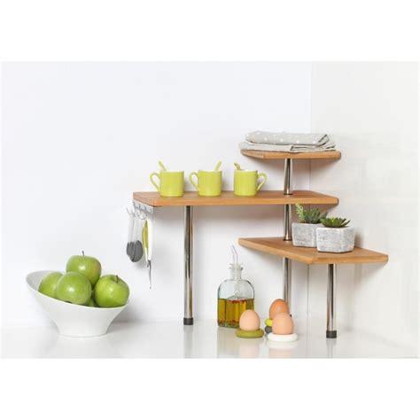 etagere d angle cuisine etag 232 re d angle cuisine quot bambou quot naturel