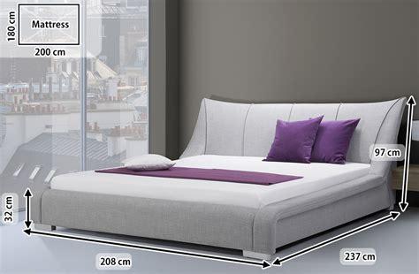 upholstered bed super king size furniture bedroom grey