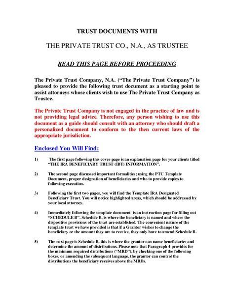 Grantor Letter From Trust
