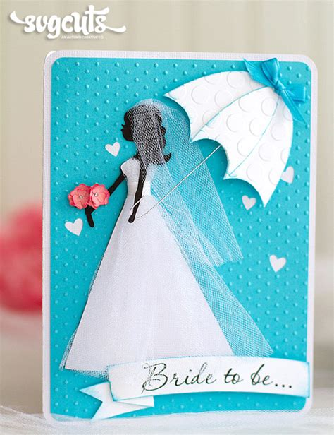 Bridal Shower Gift Cards - something blue bridal shower card and tag by ilda dias svgcuts com blog