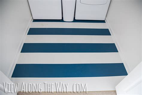 How To Paint Vinyl Floors by Painted Linoleum Floor An Update View Along The Way