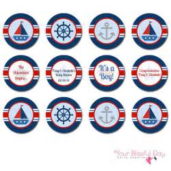 Free Printable Nautical Baby Shower Games - printable personalized nautical baby shower party circles 207 by your blissful day catch my party